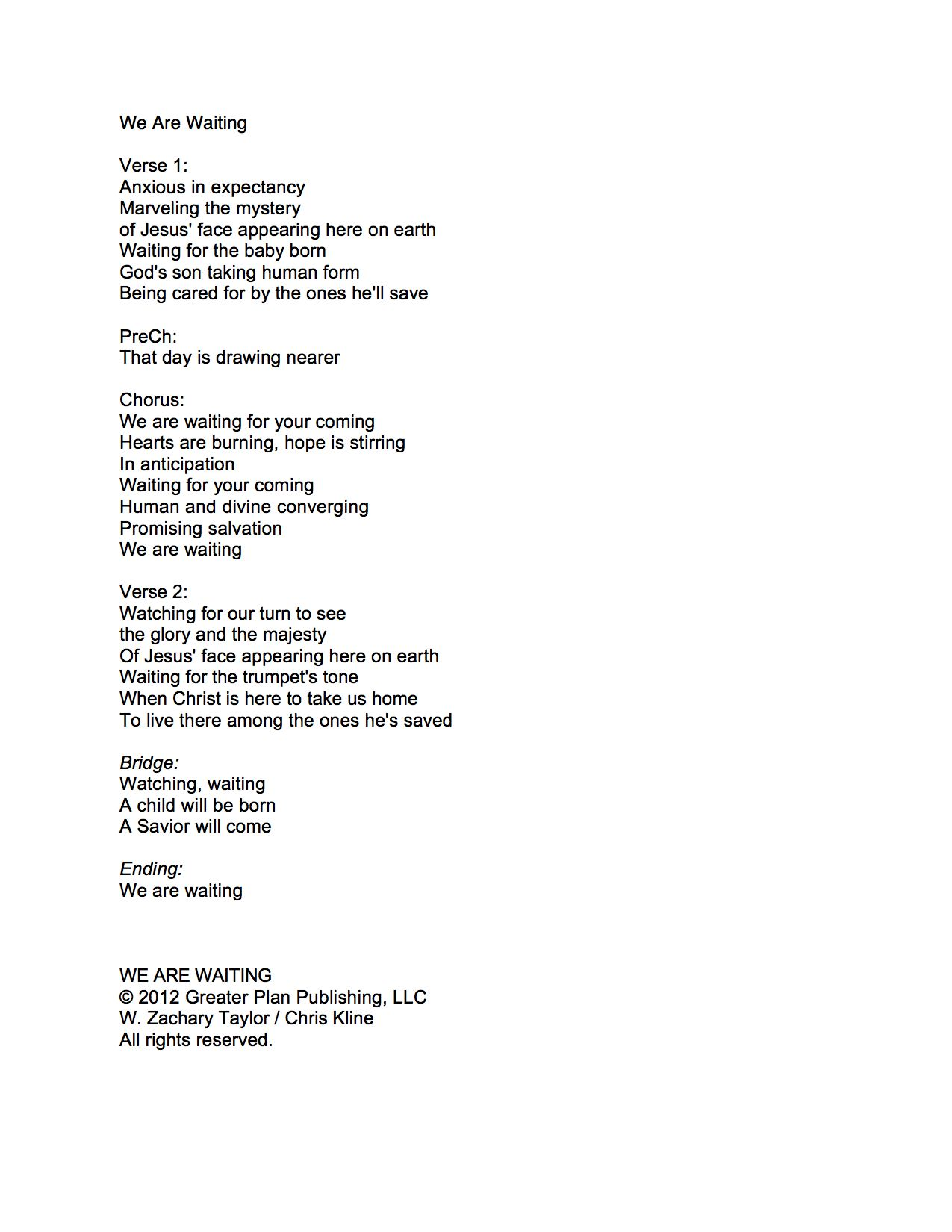 Worship current song we are waiting we are waiting lyrics hexwebz Image collections